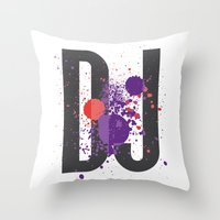 Art DJ Throw Pillow