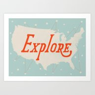 Art Print featuring Explore by Landon Sheely