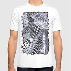 Zentangle 01 Mens Fitted Tee SMALL White
