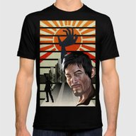 Dawn Of The Walking Dead Mens Fitted Tee Black SMALL