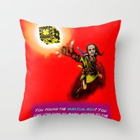 You found the Magical Box! Throw Pillow
