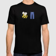 Bee Pants SMALL Black Mens Fitted Tee
