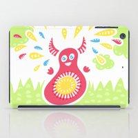 Happy Jumping Creature iPad Case