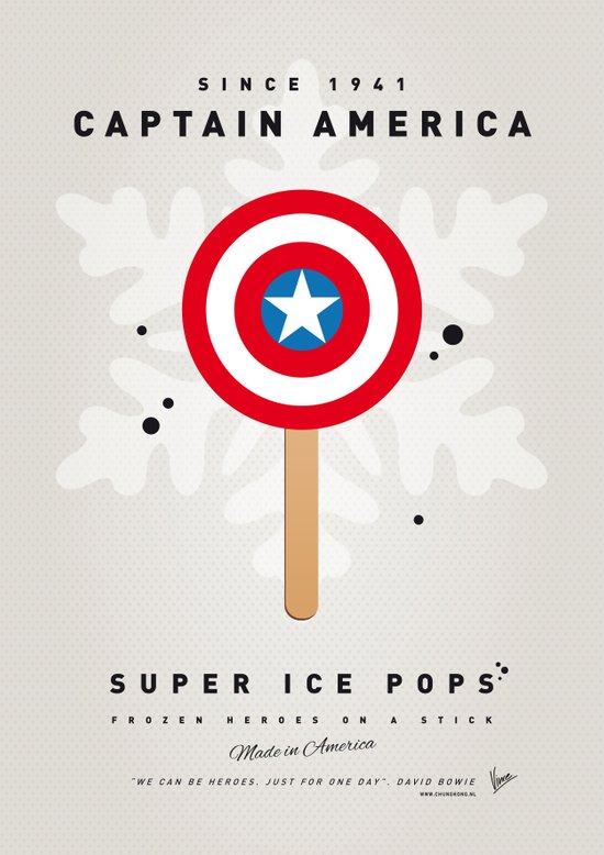 My SUPER ICE POP- No08 - America Captain Canvas Print