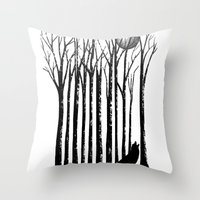 Wolf Barcode Throw Pillow