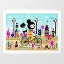 Morning ride! Art Print