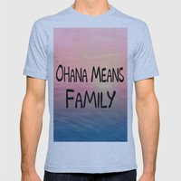 Ohana Mens Fitted Tee Athletic Blue SMALL