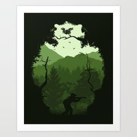 Hunting Season - Green Art Print