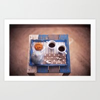 Serving Coffee Art Print