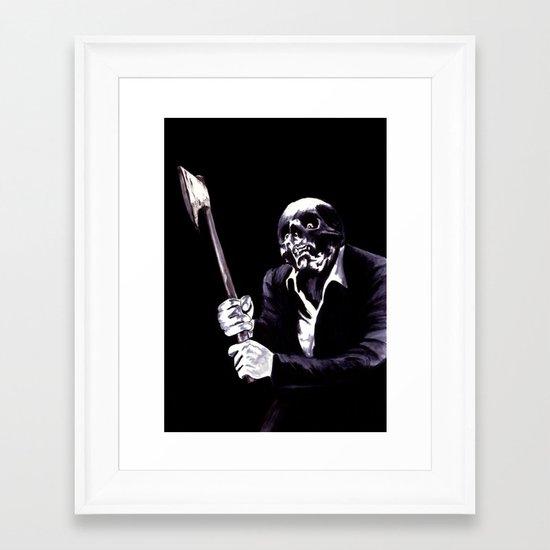 Bastard's Got A Hatchet  Framed Art Print