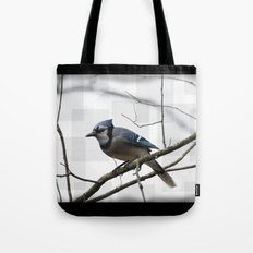 Winter Blue Jay Tote Bag