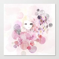 Emma - Bubble Girl Canvas Print