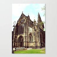 Glasgow Cathedral Mediev… Canvas Print