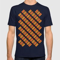 Pixel Hot Dogs Mens Fitted Tee Navy SMALL