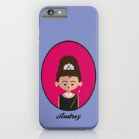 iPhone Cases featuring Audrey Hepburn by Juliana Motzko