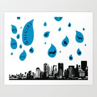 Raining Cats & Dogs Art Print