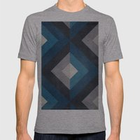 Greece Hues Diamond Mens Fitted Tee Athletic Grey SMALL