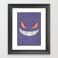 Framed Art Print featuring Gengar - Pokemon Minimal… by Jorden Tually Art