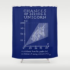 Chances of Seeing a Unicorn Shower Curtain