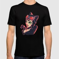 Catwoman Mens Fitted Tee Black SMALL