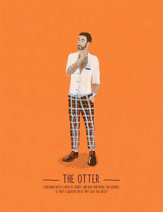 The Otter - A Poster Guide to Gay Stereotypes Art Print