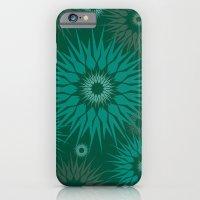 iPhone & iPod Case featuring Dark Spiky Burst by Marcia Copeland