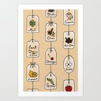 Tea Tag Time Art Print