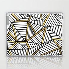 Ab Lines 2 White Gold Laptop & iPad Skin