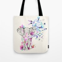 Playful Elephant Tote Bag