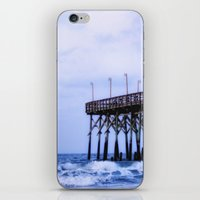Waves against the Pier iPhone & iPod Skin