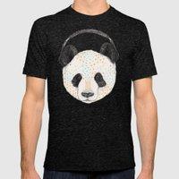 Polkadot Panda Mens Fitted Tee Tri-Black SMALL
