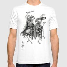 Danse Macabre (variation) Mens Fitted Tee White SMALL