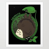 Forest Spirit Neighbor Art Print