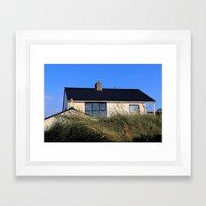 house in the dunes Framed Art Print