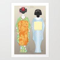 Geisha Maiko Spring Art Print