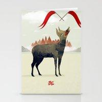 Wood Hyena Stationery Cards