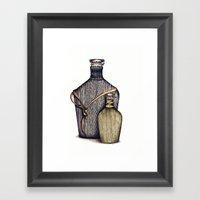 Ninja Bottles Framed Art Print