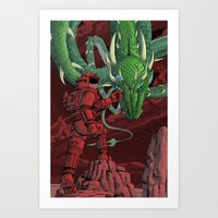 The Dragon on Mars Art Print