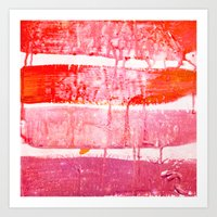 coral paint wash Art Print