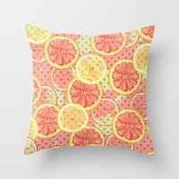 Fresh & Fruity Throw Pillow
