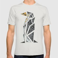 Geometric penguin - dark grey Mens Fitted Tee Silver SMALL