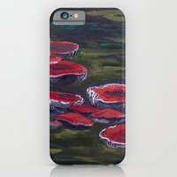 iPhone & iPod Case featuring Wild Wood Mushrooms by Charlotte Curtis