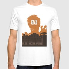 The Walking Dead Prison Walkers SMALL Mens Fitted Tee White
