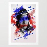 Asian abstract beauty Art Print