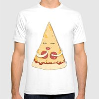 Sexy Pizza Mens Fitted Tee White SMALL