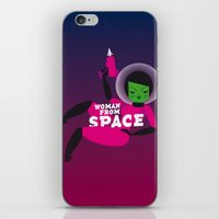 Girl From Space iPhone & iPod Skin