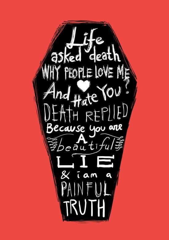 Life asked death... Canvas Print