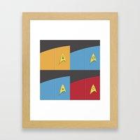 Star Trek - Insignia Framed Art Print