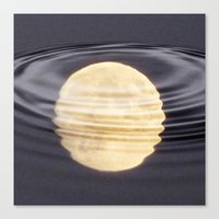 Cold Moon Reflections Canvas Print