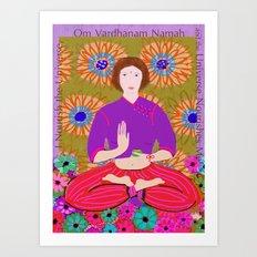 Lady Buddha Art Print